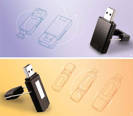 3D flash drive diagram