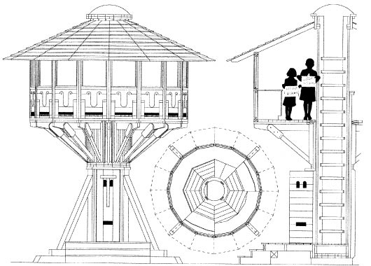 Technical Drawing treehouse plans